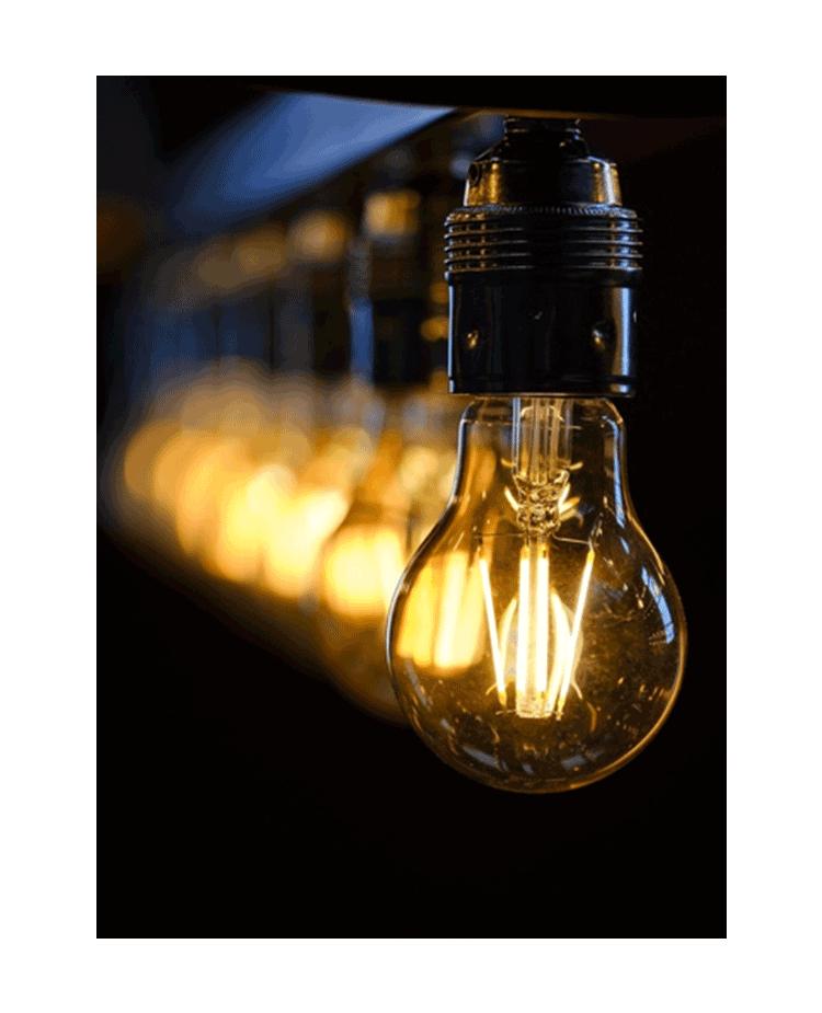 Image of Lightbulbs in the Dark