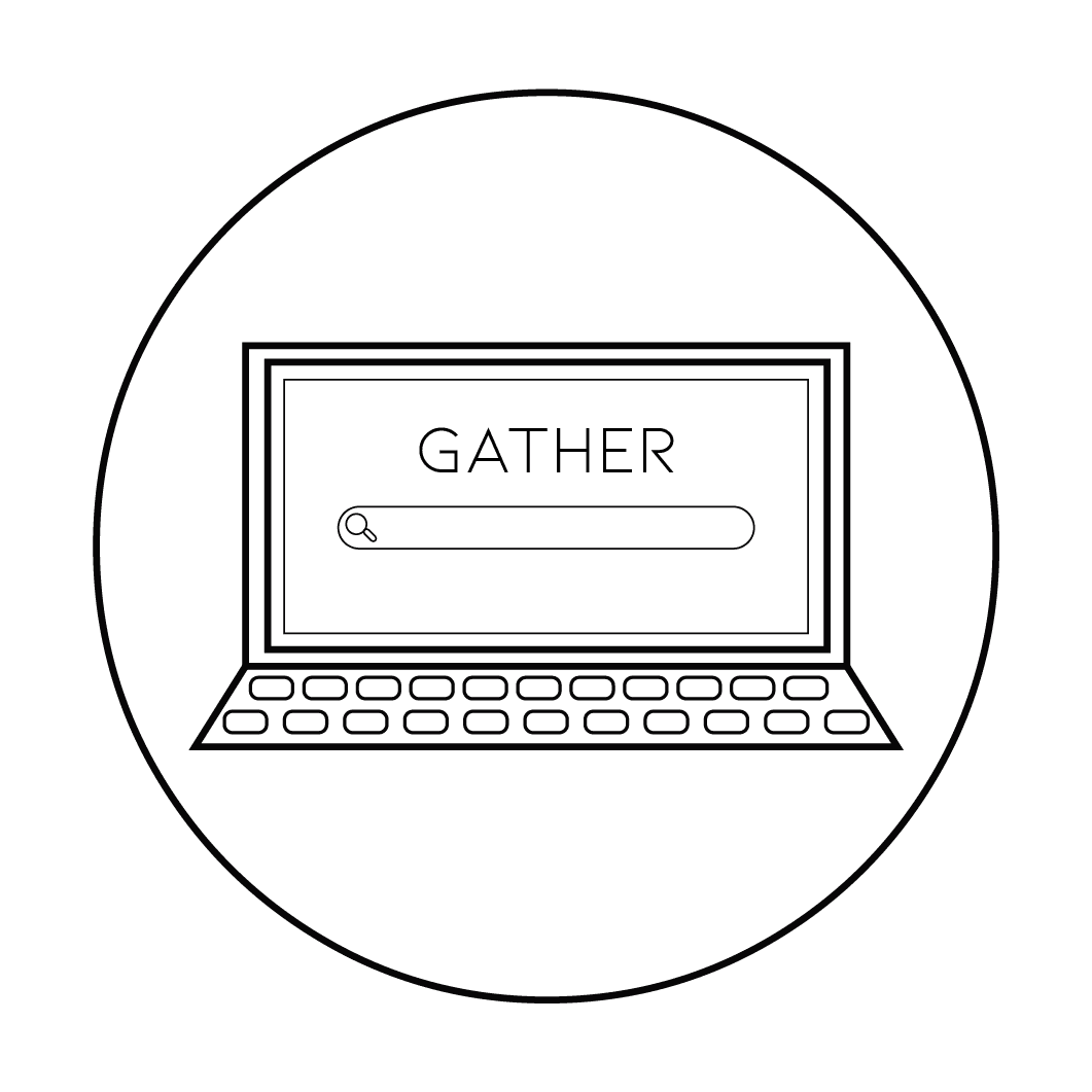 Gather Icon of a Laptop - Small
